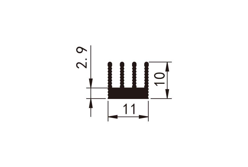 KS-1001 型材散熱器參數圖電子散熱器規格型號(hao)尺寸