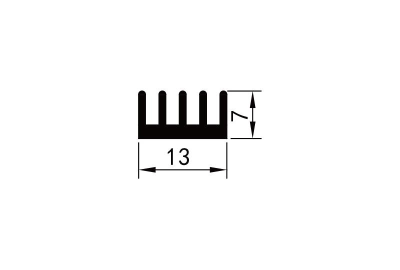 KS-1004 插(cha)片散熱器參數圖電子散熱器規格型號(hao)尺寸