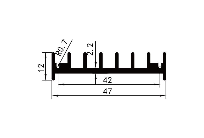KS-4032 4cm型材散熱器參數圖電子散熱器規格型號(hao)尺寸