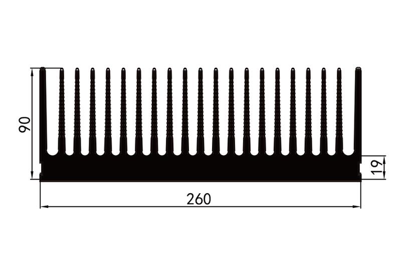 KS-26003電子散熱器參數26電子散熱器規格型號(hao)尺寸