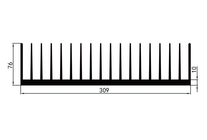 KS-30011型材散熱器參數30電子散熱器規格型號(hao)尺寸